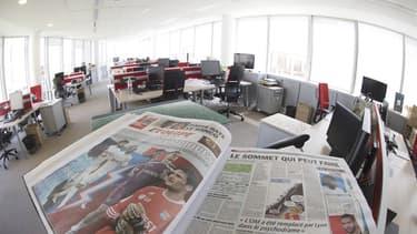 Le journal est en grève.