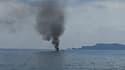 Explosion d'un bateau au port de Hyères ce samedi.