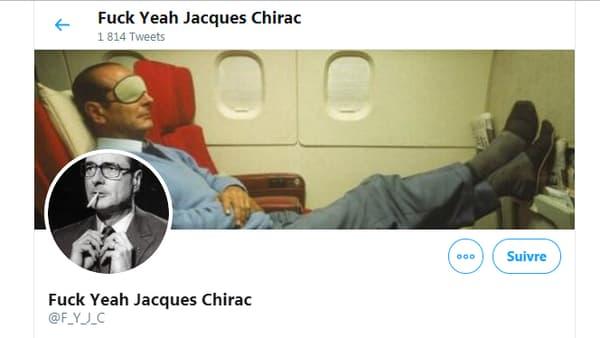 L'en-tête du compte Twitter Fuck Yeah Jacques Chirac.