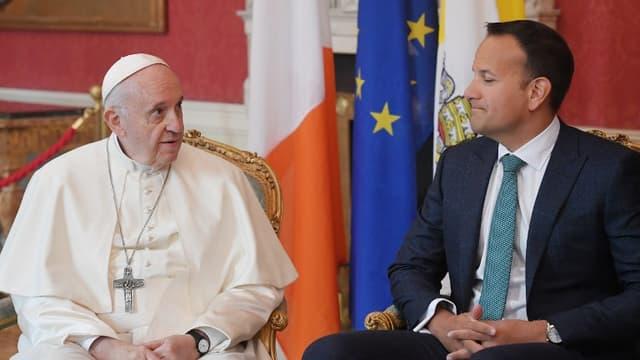 Le pape François et le Premier ministre irlandais samedi 25 août 2018.