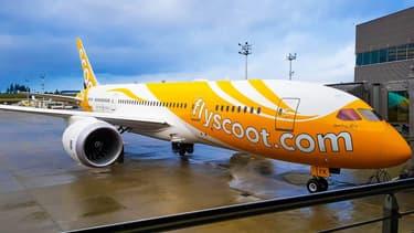 Un avion de la compagnie FlyScoot - Image d'illustration