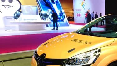 La Clio RS16 sur le stand Renautl Sport du Mondial de l'auto