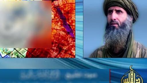 Capture de la vidéo mise en ligne mardi, montrant Abou Obeida Youssef Al-Annabi et des slogans islamistes (floutés par la rédaction)..