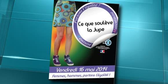 """L'affiche officielle de la journée """"Ce que soulève la jupe"""", organisée le 16 mai dans des lycées de l'académie de Nantes."""