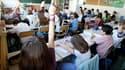 Une salle de classe à Vincennes, près de Paris. Un rapport remis à François Fillon par le Haut conseil à l'intégration propose 50 mesures pour mieux intégrer à l'école les enfants issus de l'immigration, sur la laïcité, la scolarisation ou les relations p