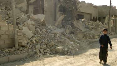 La ville de Fallouja détruite en janvier 2005.