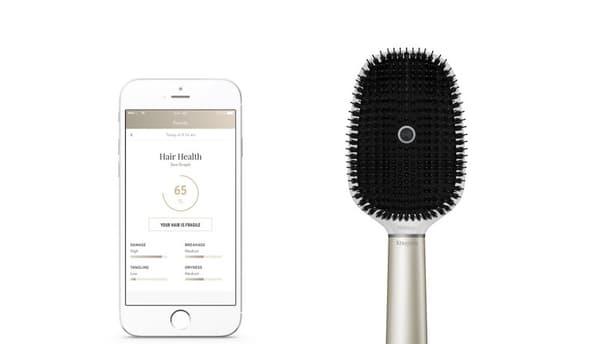 La brosse à cheveux Hair Coach fonctionne avec une application dédiée.