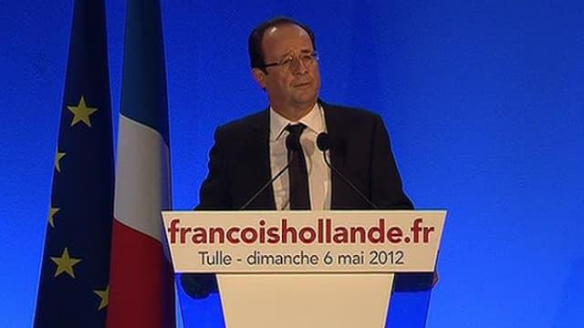 Depuis son fief de Tulle, en Corrèze, François Hollande a remercié les Français.