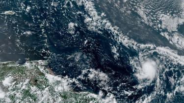 La tempête tropicale Gonzalez en image satellites ce mercredi 22 juillet.