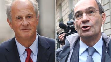 L'ancien gestionnaire de fortune de Liliane Bettencourt Patrice de Maistre et l'ancien ministre du Budget Eric Woerth