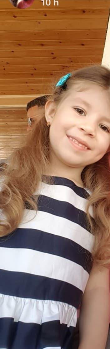 Alia, la fille d'Eileen Devouassoux, alors âgée de 4 ans.
