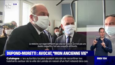 """Éric Dupond-Moretti ironise sur son """"ancienne vie"""" d'avocat lors d'une visite dans un centre éducatif"""