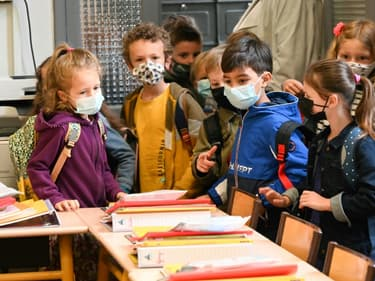 Rentrée des classes dans une école de Lille, le 2 septembre 2021