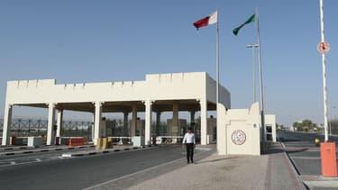 La frontière entre l'Arabie saoudite et le Qatar, côté qatari