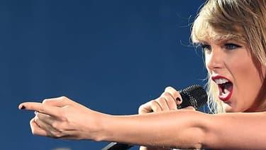 La chanteuse Taylor Swift en concert à Philadelphie en juin 2015.