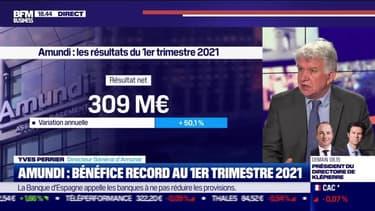 Yves Perrier (Amundi) : bénéfice record pour Amundi au premier trimestre 2021 - 29/04