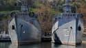 Des navires militaires russes amarrés dans le port de Sébastopol, en Crimée, le 23 mars.