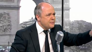 Le président du groupe PS à l'Assemblée, Bruno Le Roux, le 27 mars 2013 sur BFMTV