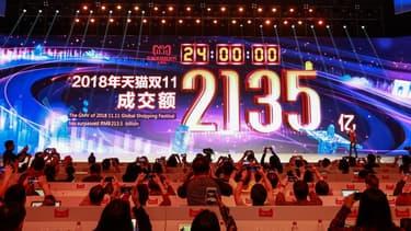 Alibaba a engrangé 27 milliards d'euros de chiffre d'affaires en une journée de soldes monstres sur internet, le 11 novembre 2018.