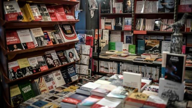 La librairie des Abbesses à Paris le 2 novembre 2020