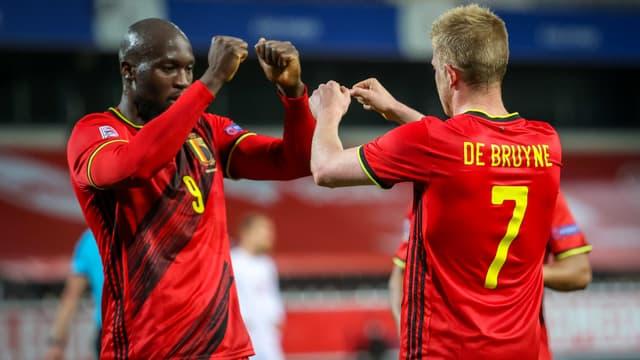 Lukaku et de Bruyne - Belgique