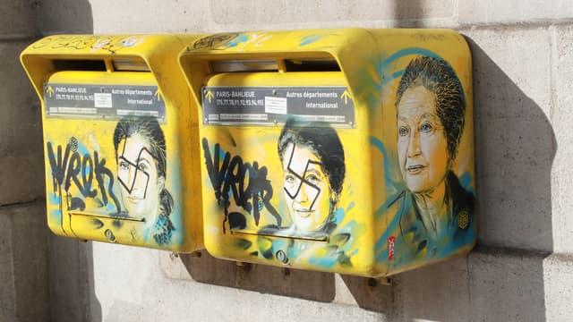 Le 11 février dernier,  des tags antisémites ont été réalisés sur des portraits de Simone Veil, dans le XIIIème arrondissement de Paris.