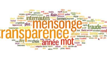 """""""Mensonge"""" et """"transparence"""" ont été élus mot de l'année par les internautes et un jury de professionnels."""
