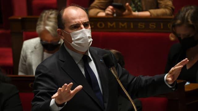 Le Premier ministre Jean Castex à l'Assemblée nationale le 22 juin 2021.