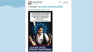 L'utilisation de Leonarda par le FN, diffusée par Florian Philippot sur twitter