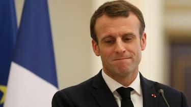 Emmanuel Macron à N'Djamena (Tchad) le 23 décembre 2018