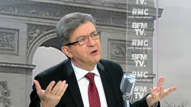 Jean-Luc Mélenchon, ce vendredi matin, sur BFMTV