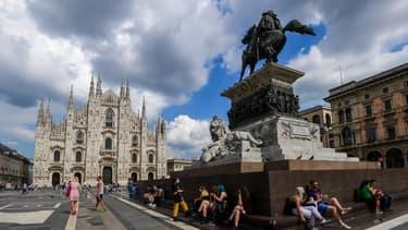 La ville de Milan où des échantillons d'eaux usées ont permis de détecter la trace du coronavirus.