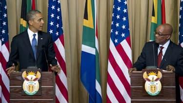 Barack Obama et Jacob Zuma le samedi 29 juin.