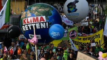 Manifestation pour le climat dans les rues de Berlin, le 20 septembre