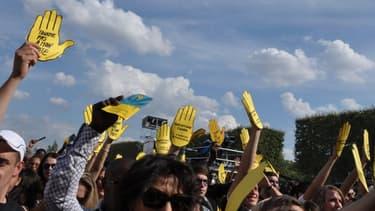 Une manifestation de SOS Racisme, le 14 juillet 2011