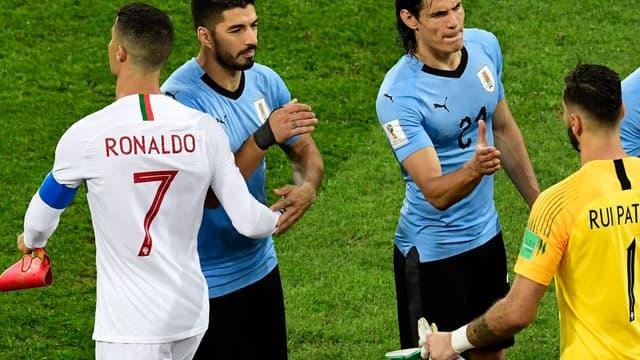 Cristiano Ronaldo, Luis Suarez et Edinson Cavani
