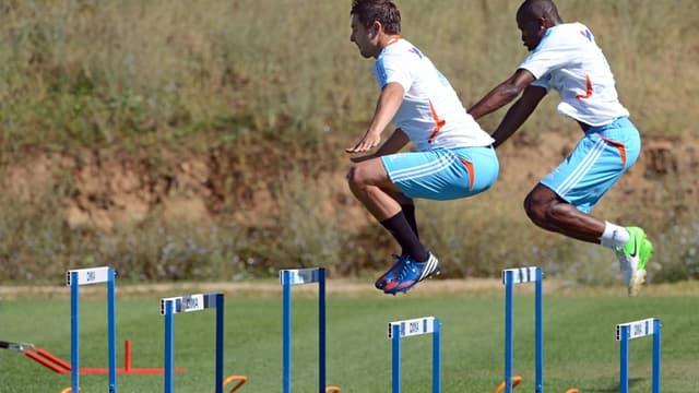 Gignac et Fanni à l'entraînement