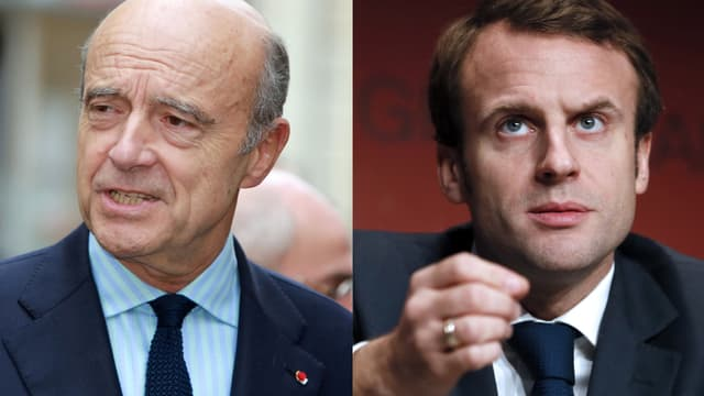 Alain Juppé et Emmanuel Macron sont les deux personnalités favorites des Français, selon un sondage. -