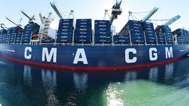 Un navire de l'armateur français CMA CGM. (image d'illustration)