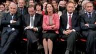 De gauche à droite, Dominique Strauss-Kahn, François Hollande, Ségolène Royal, Laurent Fabius et Bertrand Delanoë
