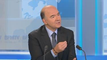 Pierre Moscovici, le ministre de l'Economie et des Finances, a taclé l'ancienne équipe gouvernementale.