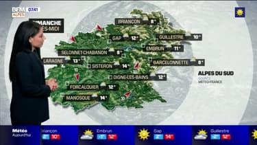 Météo: une matinée ensoleillée mais des nuages et des averses au programme de ce dimanche après-midi dans les Alpes-du-Sud