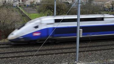 Le TGV a dû être immobilisé (illustration)