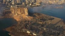 Une image du port de Beyrouth, prise par drone.