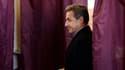 Nicolas Sarkozy lors de son vote pour les élections municipales, le 23 mars dernier.