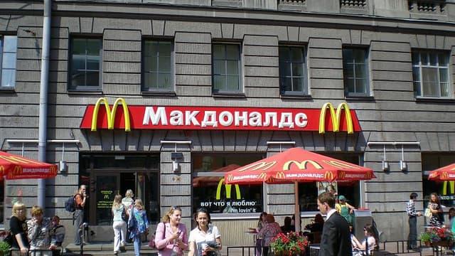"""Un cinquième restaurant McDonalds a été fermé pour """"raisons sanitaires en Russie""""."""