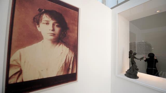 Un portrait de Camille Claudel lors d'une rétrospective au Musée Rodin en 2008