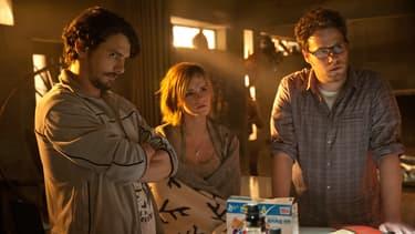 """James Franco, Emma Watson et Seth Rogen dans """"C'est la fin"""" (2013)"""