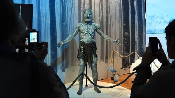"Un White Walker à l'exposition ""Game of Thrones""."