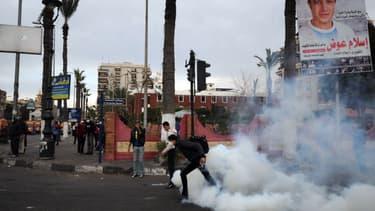 Emeutes avec la police à Port Said, le 7 mars 2013